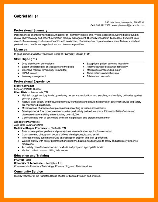 9+ pharmacy cv examples | acknowledge form