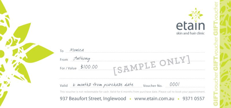 sample of gift certificate