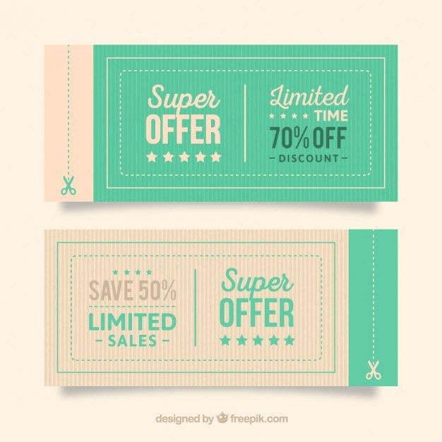 Offer coupons | free vectors | UI Download