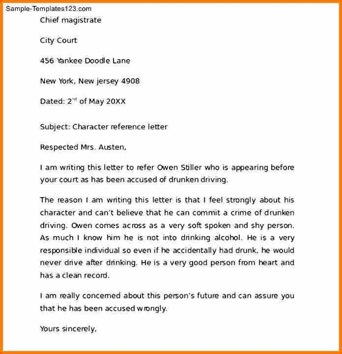 7+ character reference letter for child custody examples | resume ...