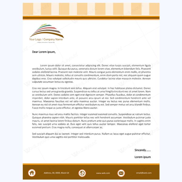 5+ Letterhead Word Templates Best for Any Business