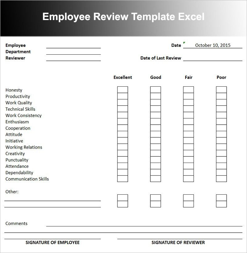 Employee Performance Review Templates | Free & Premium | Creative ...