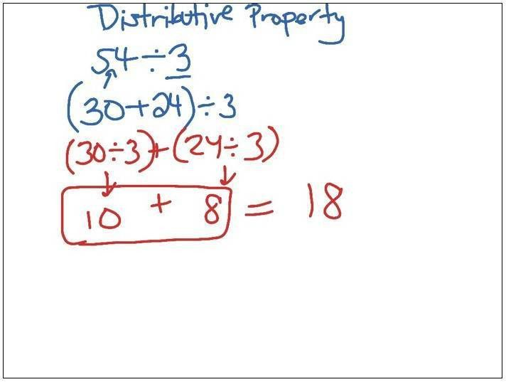Examples Of Distributive Property Of Multiplication 3rd Grade ...
