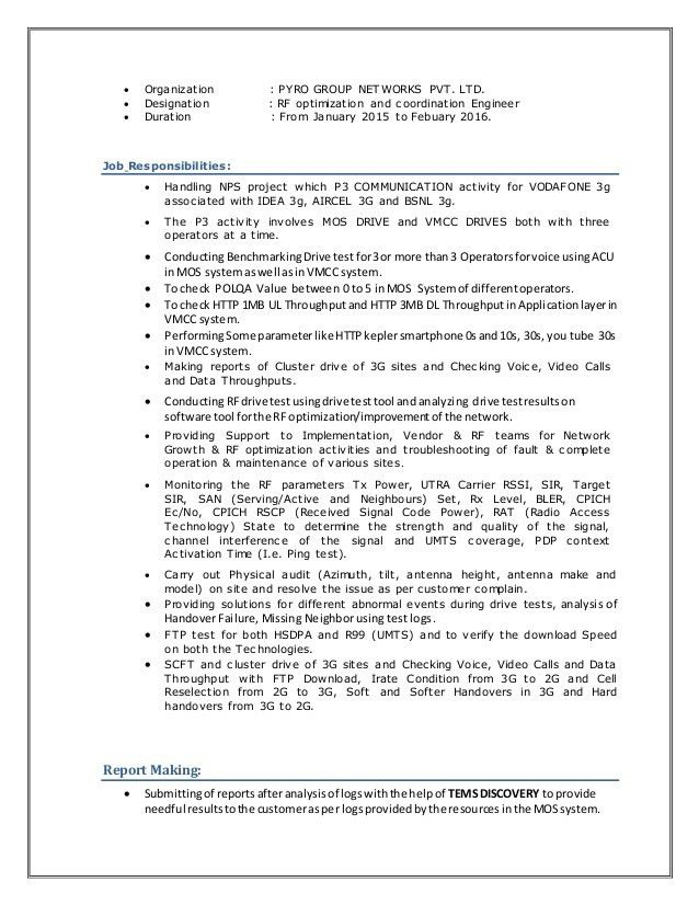 Resume - vipin RF Engineer Latest,PM TEAM wid cover note