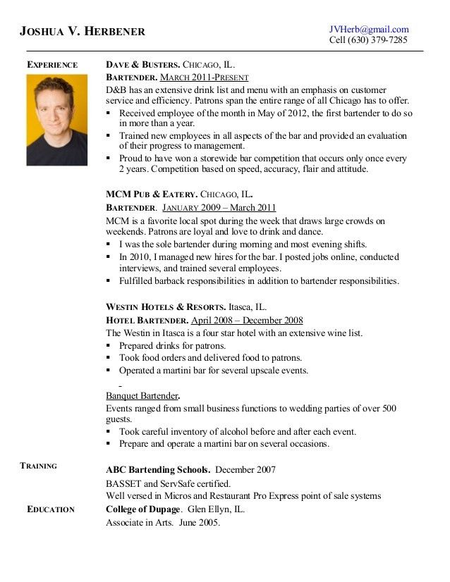 business analyst resume example. bar resume examples bartender ...