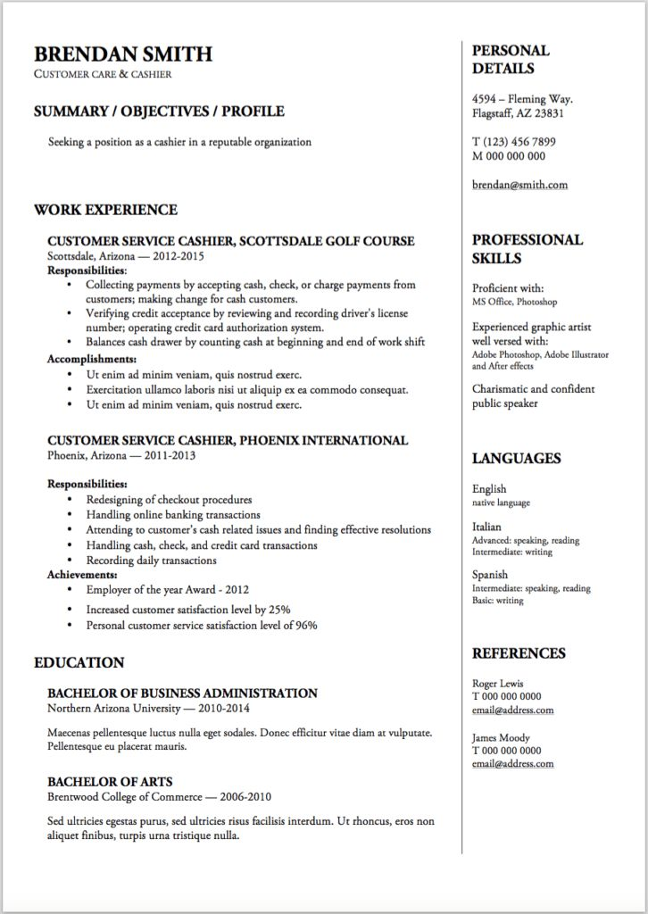 Resume Templates - Resumeviking.com