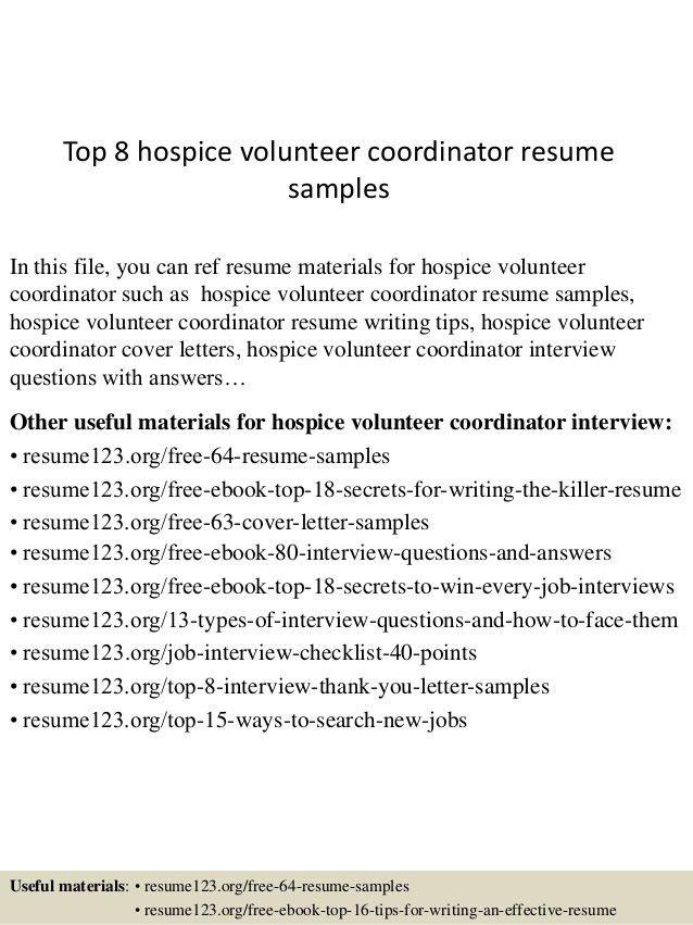 Volunteer Resume Sample - Template Examples