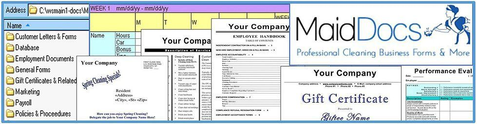 Marketing Package | House Cleaning Business Forms Customizable ...