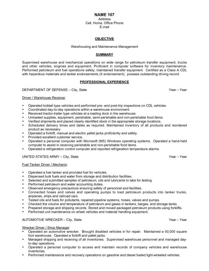 warehousing resume unforgettable warehouse associate resume