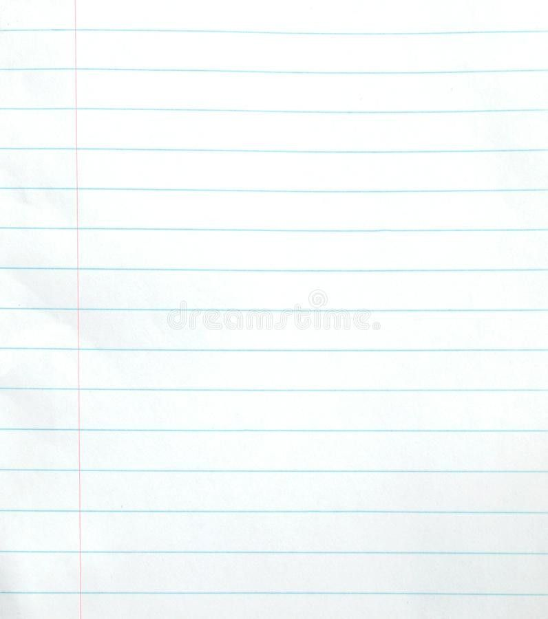 Blank Lined Notebook Paper Background Stock Photo - Image: 33057280