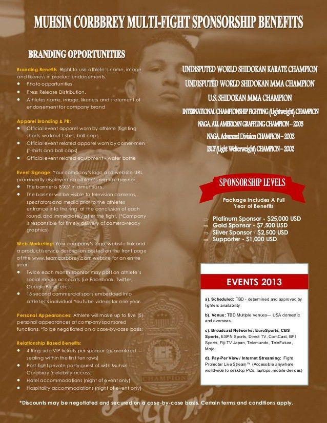 Professional Athlete - Sponsorship Proposal Package