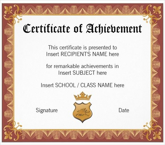 9+ School Certificate Templates - Samples , Examples , Format