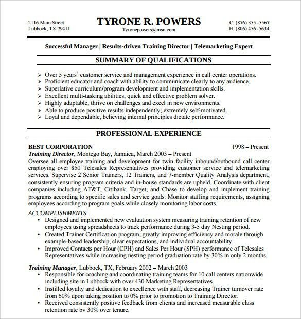 Sample Customer Service Representative Resume - 9+ Free Documents ...