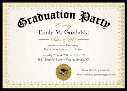 Graduation Party Invitations 2015 | christmanista.com