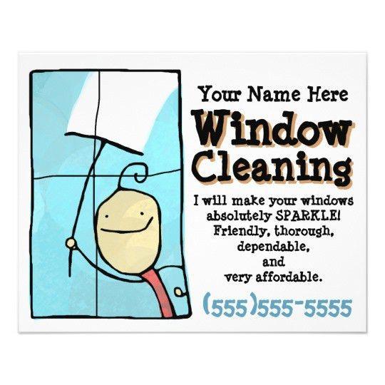 Window Cleaning. Promotional Marketing Sales Flyer | Zazzle.com