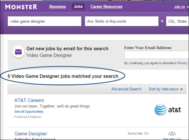 tag video game designer job description. video game designer cv ...