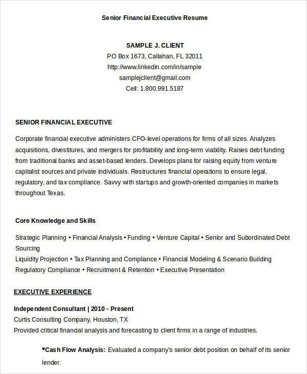 finance executive resume executive resume example executive