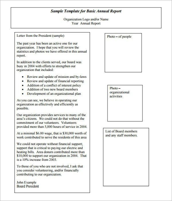 Annual Report Template - 9+ Download Documents in PDF