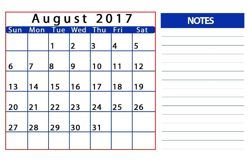 2017 calendar word doc