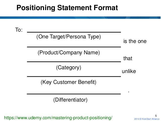 Mastering Product Positioning: what is a positioning statement?