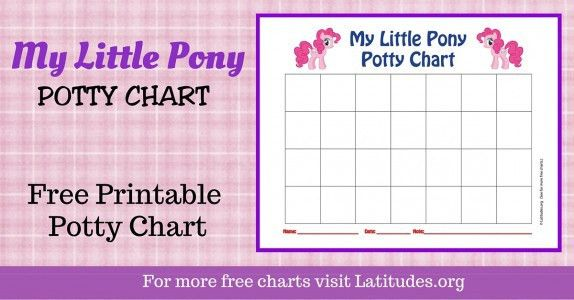 girls potty chart