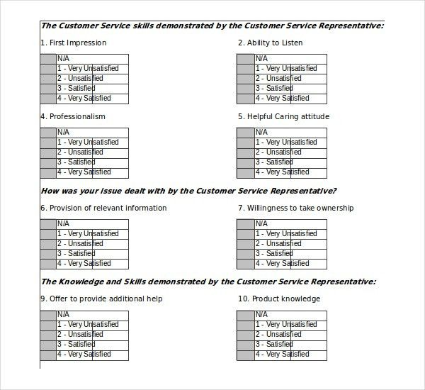 Customer Survey Template – 12+ Free Word, Excel, PDF Documents ...