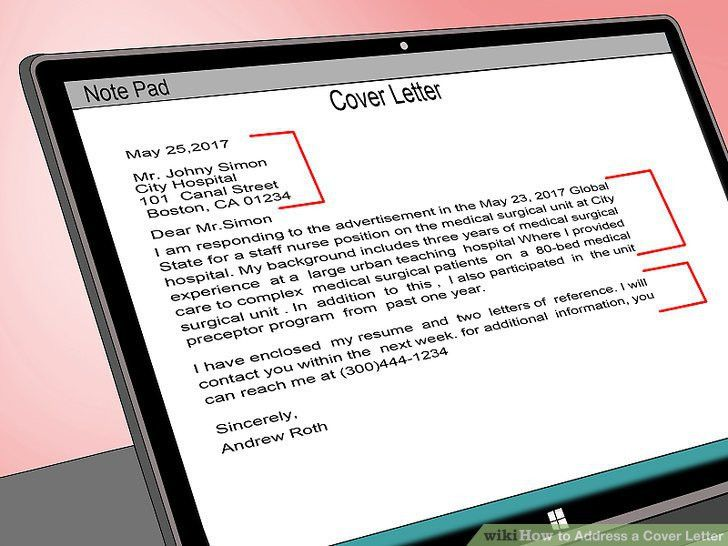 How to Address a Cover Letter: 9 Steps (with Pictures) - wikiHow