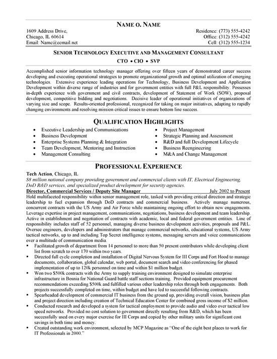 cto resume example sample | Resumes | Pinterest | Resume examples