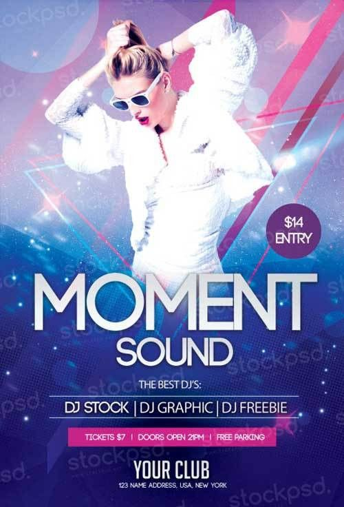 Moment Sound Free PSD Flyer Template - http://freepsdflyer.com ...