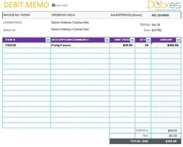 Debit Memo Templates. 7+ Credit Memo Examples, Samples Memo ...
