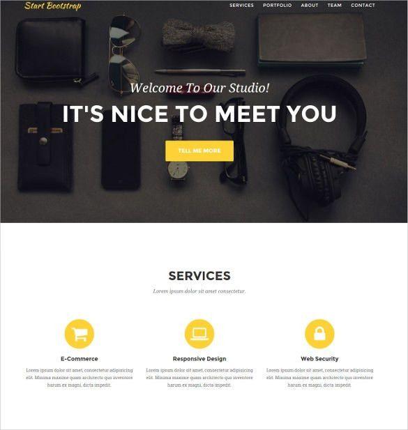 17+ Free Bootstrap Themes & Templates | Free & Premium Templates