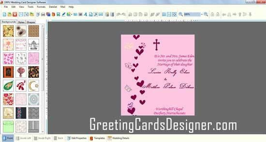 New marriage card making software downloads