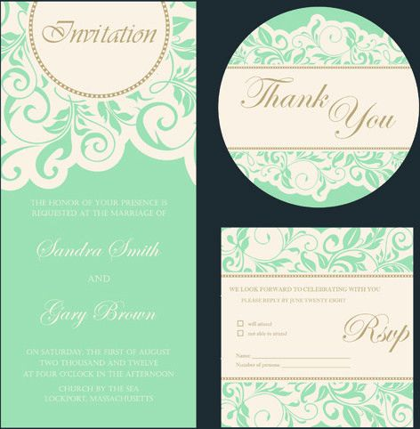 Wedding invitation card format free vector download (215,322 Free ...