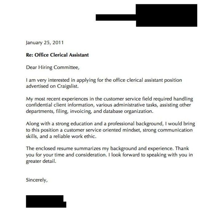 Quick Cover Letters