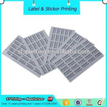 Free Sample Name Card Style Adhesive Private Label Sticker ...