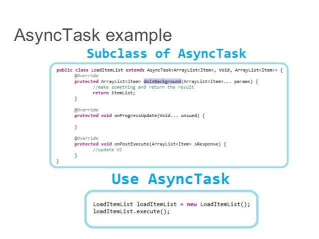 Android - Thread, Handler and AsyncTask