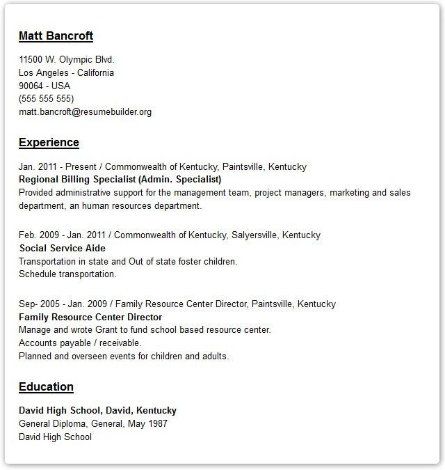 Resume Styles Examples. Finance Resume Format Template Best Resume ...