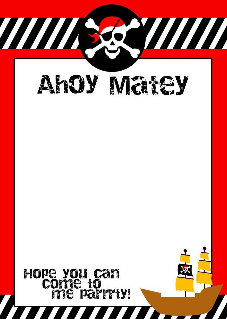 Best 25+ Pirate birthday invitations ideas on Pinterest | Pirate ...