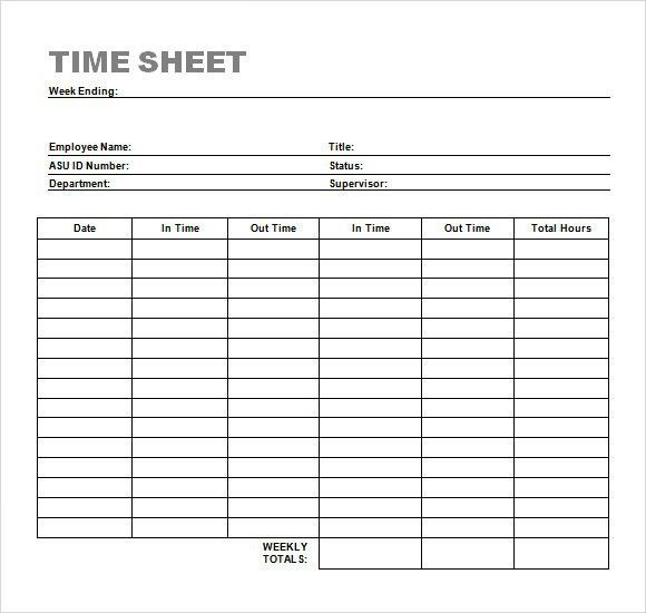 Sample Attorney Timesheet. 10+ Basic Monthly Timesheet Template 10 .