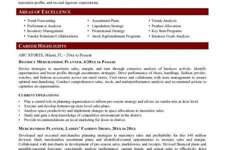 Fashion Buyer Resume - Reentrycorps