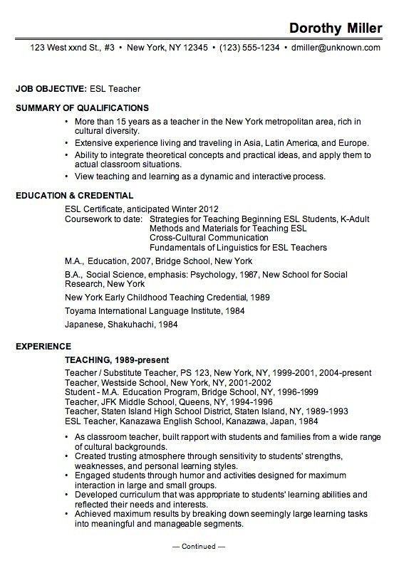 5 teacher resume examples high school teacher resume example1 free ...
