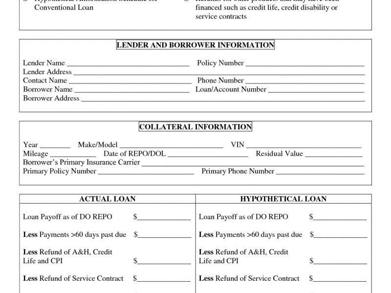 personal loan agreement template microsoft word sample. 7 personal ...