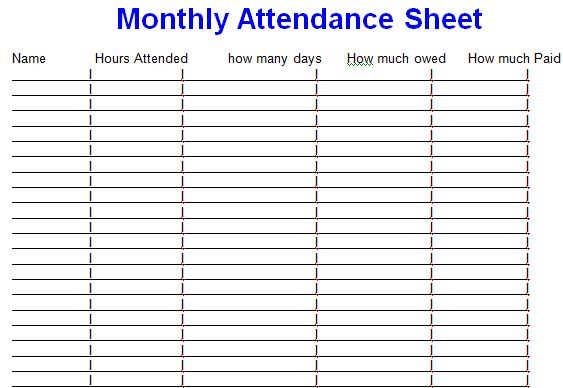 5+ Employee Meeting Attendance Template Excel - Project management ...