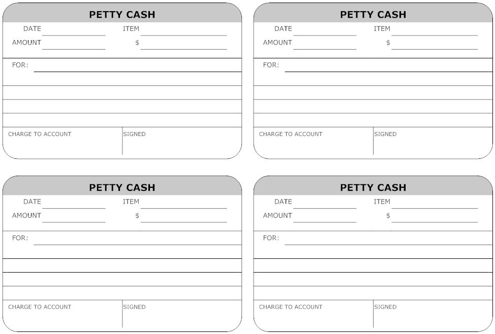 Top 5 Layouts Of Petty Cash Templates - Word Templates, Excel ...