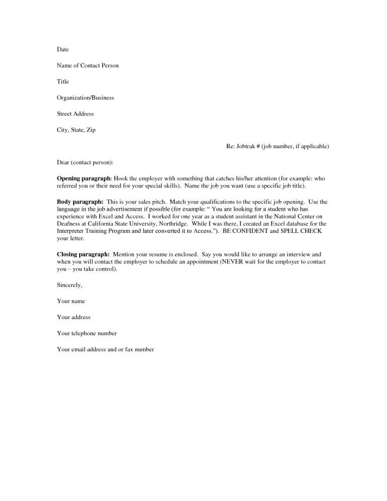 Download Sample Of Cover Letter For Resume | haadyaooverbayresort.com