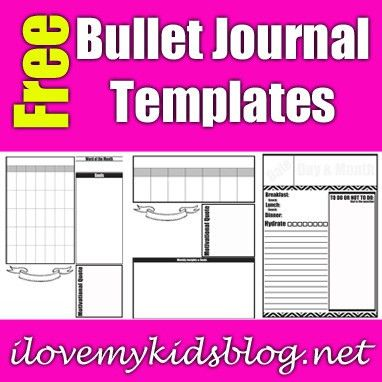 Three Free Bullet Journal Template Downloads to Help Ease the ...