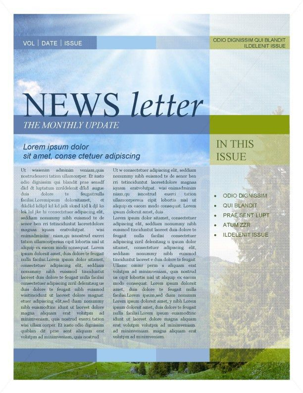 Nature Newsletter Template Template   Newsletter Templates