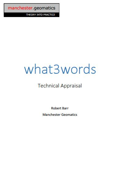 What 3 Words - Technical appraisal | VIA Water