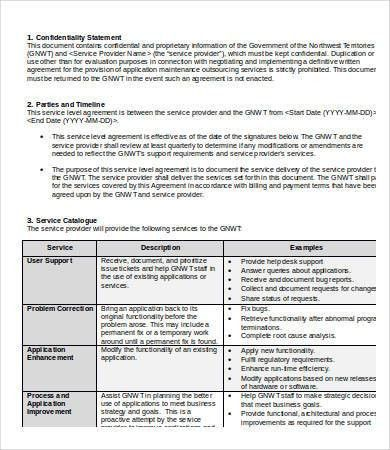 Service Level Agreement Template - 9+ Free Word, PDF Documents ...