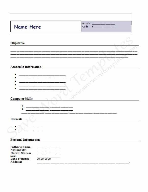 cv format download for job application. job resume download first ...